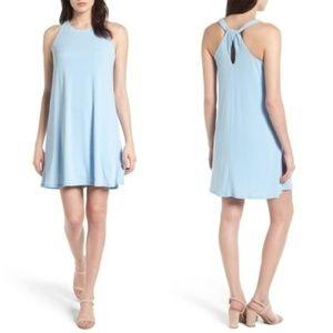CeCe Twist Back Crepe Halter Dress Sleeveless